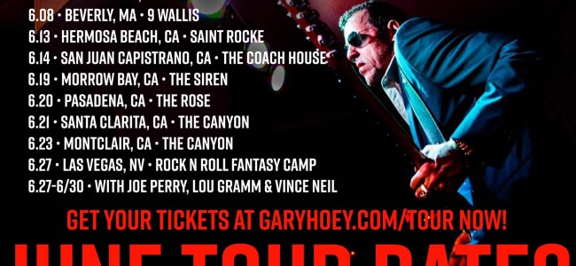 Gary Hoey hits California in June for several shows