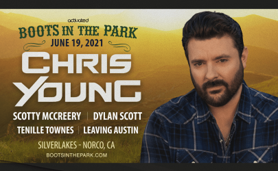 Chris Young & Friends Play Boots In The Park on June 19 in Norco