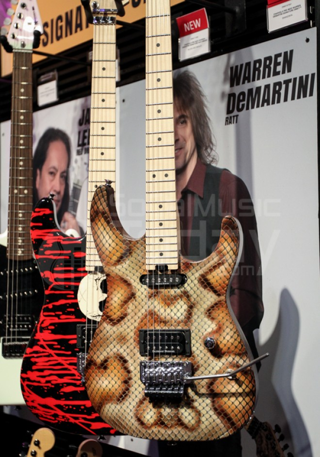 Warren Demartini Of Ratt Signature Guitar At Namm 2015