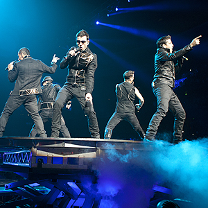 FILE PHOTO: New Kids on The Block and Backstreet Boys (NKOTBSB) performs at Honda Center in Anaheim, CA. © PaulHebertPhoto.com