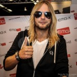 Richie Faulkner from Judas Priest at the EMG booth - NAMM 2013