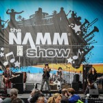 Teen All-Star Band performs on one of the NAMM outdoor stages - NAMM 2013