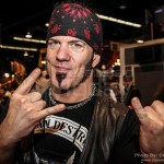 David Vincent from Morbid Angel at Dean Guitars booth - NAMM 2013