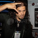 Jeff Scott Soto posing for photos - NAMM 2013