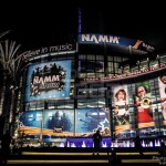 Night view of the Anaheim Convention Center - NAMM 2013