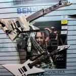 Max Cavalera guitar display at ESP Guitars - NAMM Day 2 2014