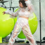 Charli XCX performs during Taylor Swifts Reputation stadium tour at the Rose Bowl on May 18, 2018 in Pasadena, California.